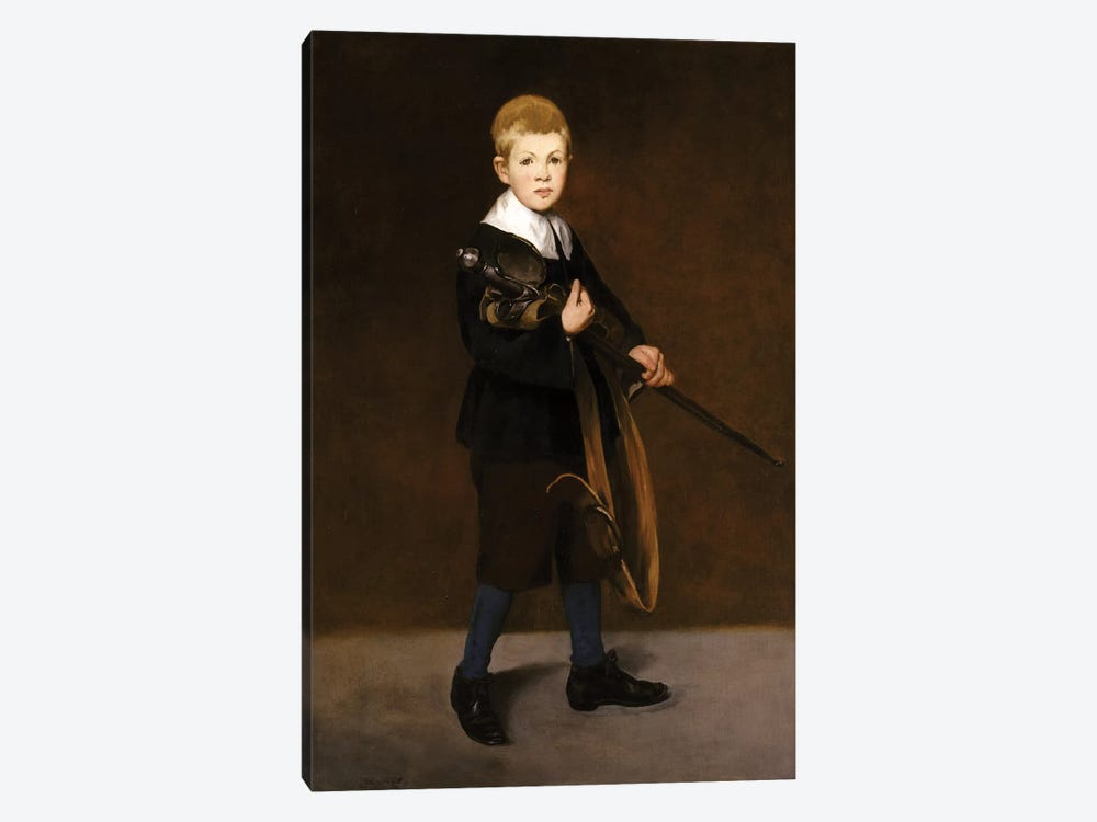 Boy With A Sword, 1861 by Edouard Manet 1-piece Art Print