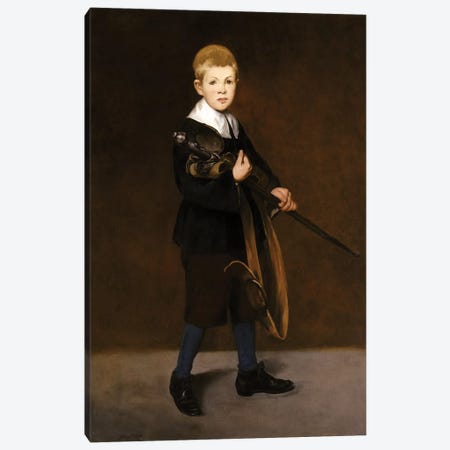 Boy With A Sword, 1861 Canvas Print #BMN7017} by Edouard Manet Canvas Wall Art