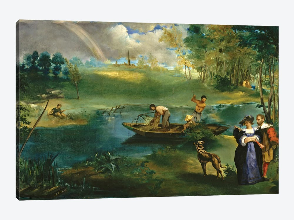 Fishing, c.1862-63 by Edouard Manet 1-piece Canvas Art
