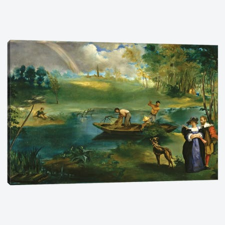 Fishing, c.1862-63 Canvas Print #BMN7018} by Edouard Manet Canvas Print