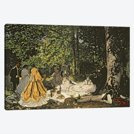 Le Dejeuner sur l'Herbe, 1865-1866  Canvas Print #BMN701} by Claude Monet Canvas Print