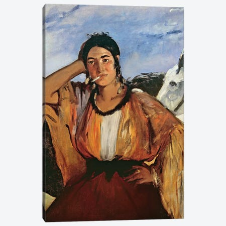Gypsy With A Cigarette Canvas Print #BMN7020} by Edouard Manet Canvas Artwork