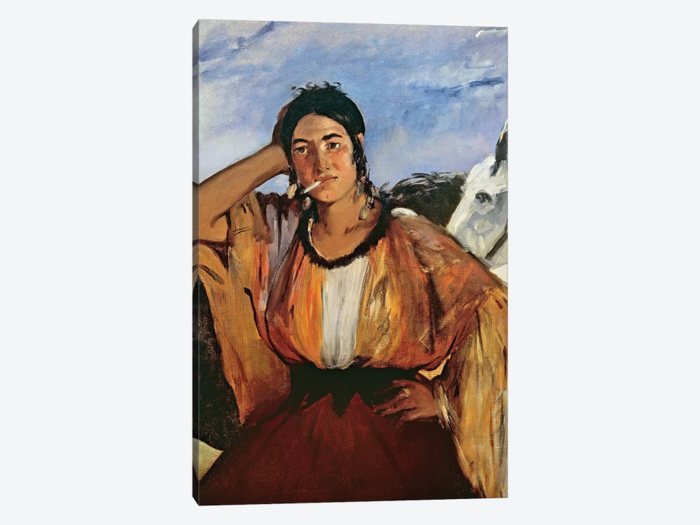 Gypsy With A Cigarette by Edouard Manet 1-piece Canvas Art Print