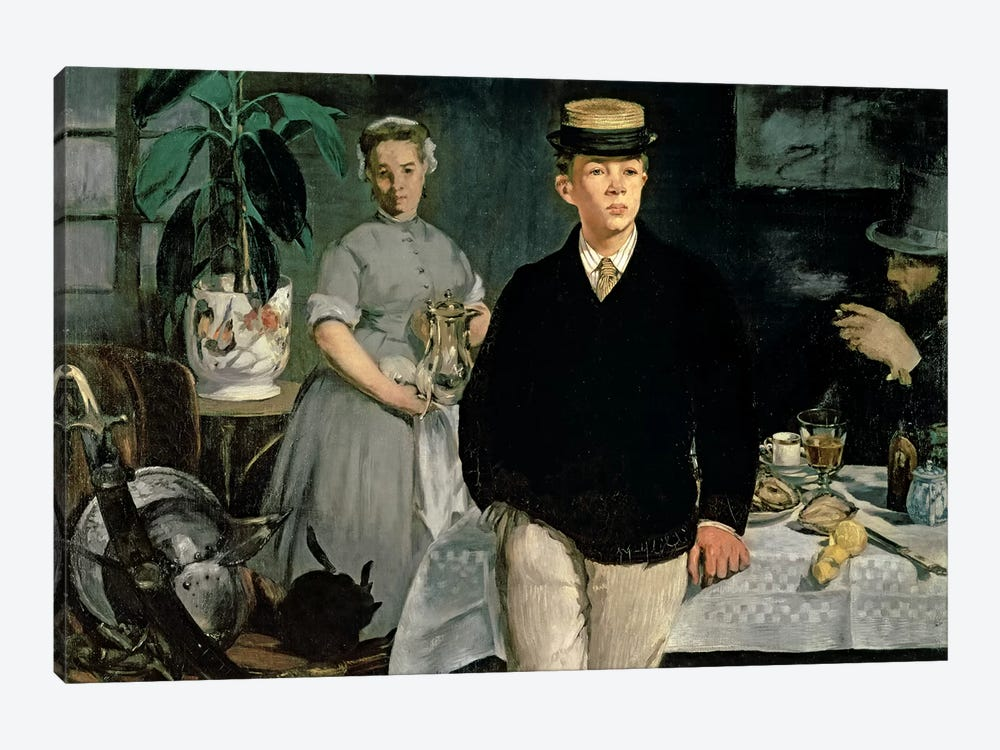 Luncheon In The Studio, 1868 by Edouard Manet 1-piece Canvas Artwork