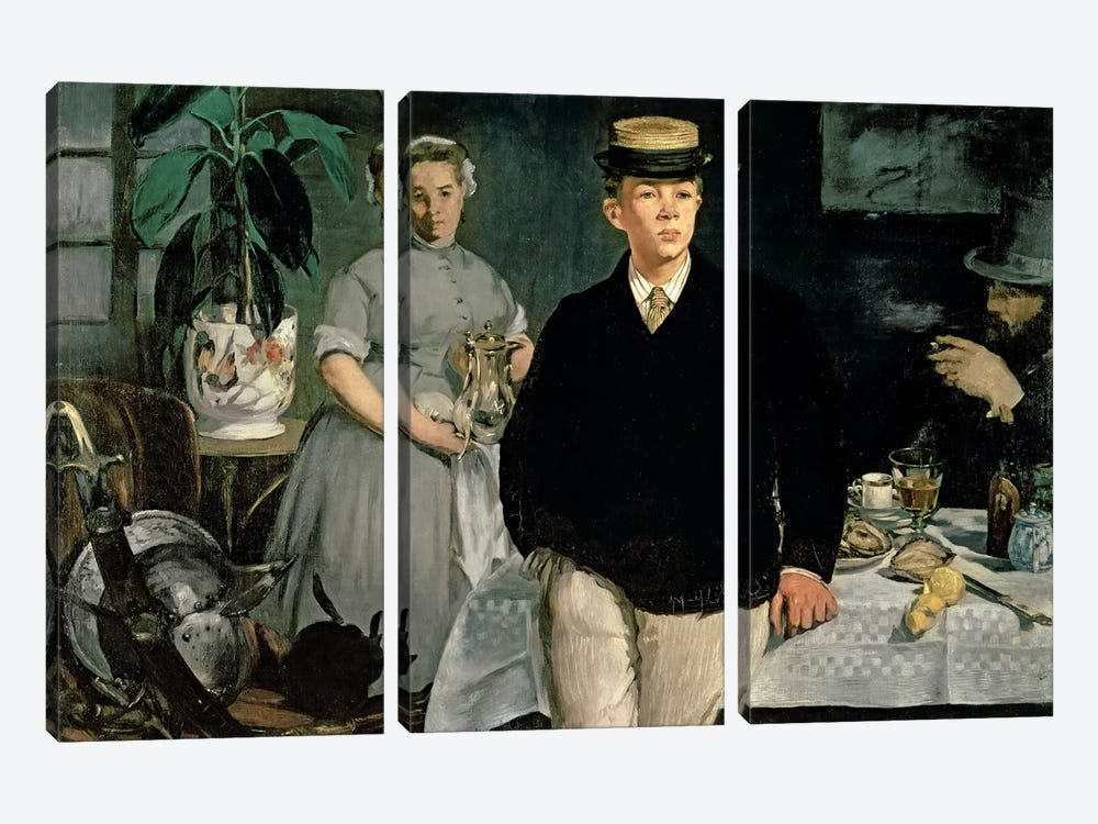 Luncheon In The Studio, 1868 by Edouard Manet 3-piece Canvas Artwork