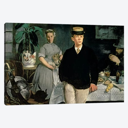 Luncheon In The Studio, 1868 Canvas Print #BMN7023} by Edouard Manet Canvas Wall Art