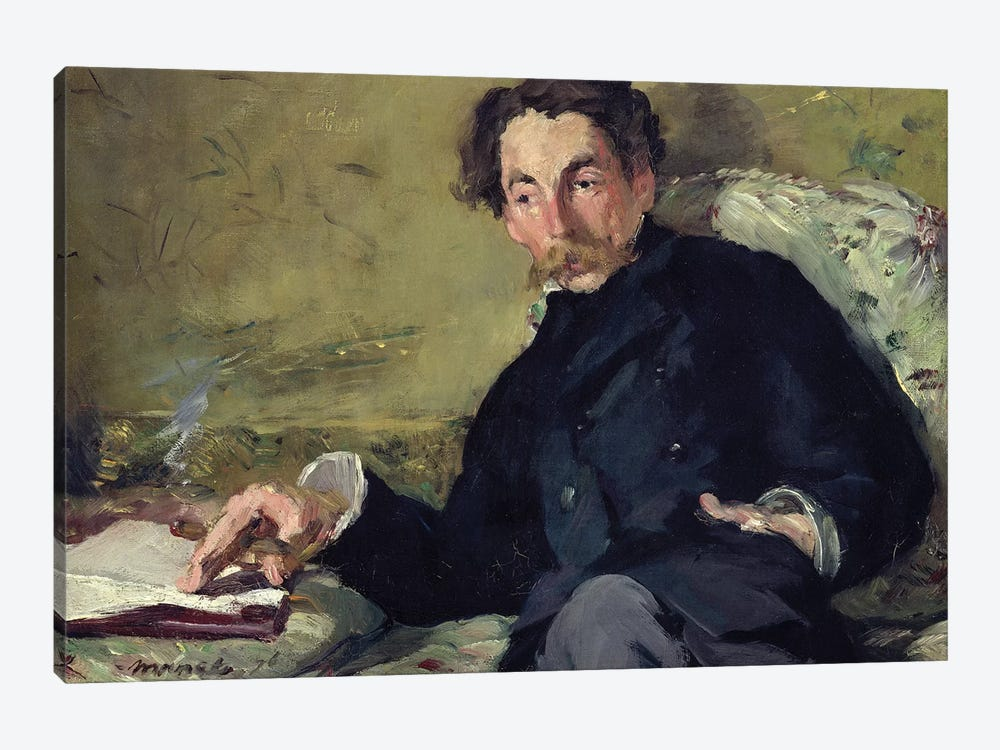 Stephane Mallarme, 1876 by Edouard Manet 1-piece Canvas Wall Art