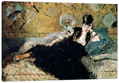 The Lady With Fans (Portrait Of Nina de Callias), c.1873-74 Canvas Art Print