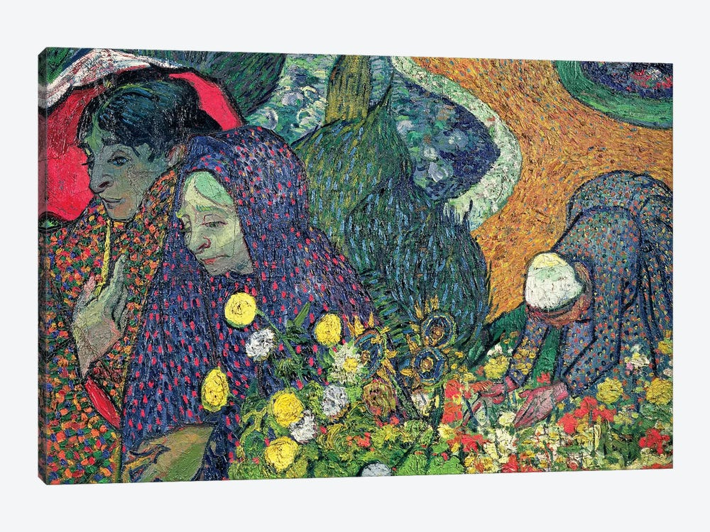 Ladies Of Arles (Memories Of The Garden At Etten), 1888 by Vincent van Gogh 1-piece Canvas Artwork