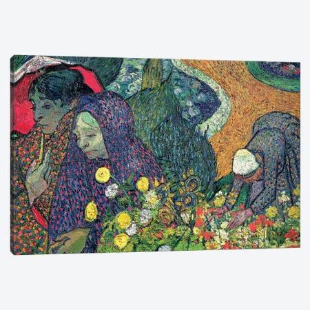 Ladies Of Arles (Memories Of The Garden At Etten), 1888 Canvas Print #BMN702} by Vincent van Gogh Art Print