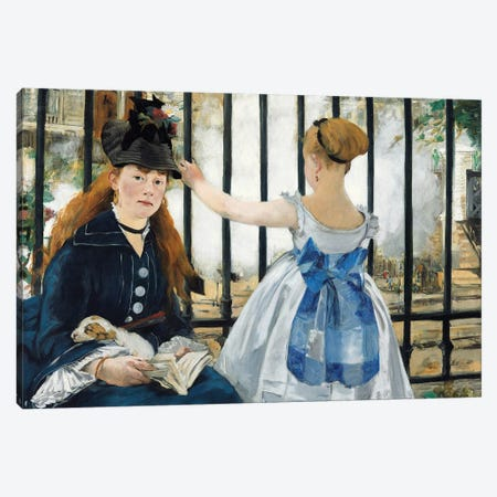 The Railway, 1873 Canvas Print #BMN7031} by Edouard Manet Canvas Art Print