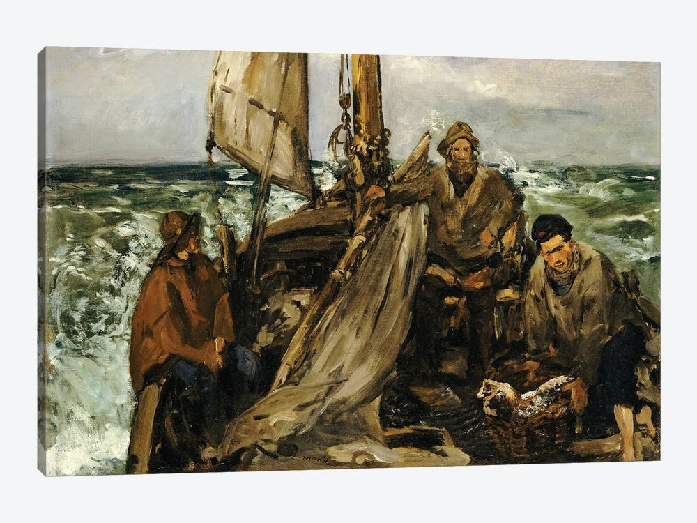 The Workers Of The Sea, 1873 by Edouard Manet 1-piece Canvas Wall Art