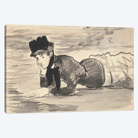 Woman Lying On The Beach (Annabel Lee), c.1881 Canvas Print #BMN7033} by Edouard Manet Canvas Print