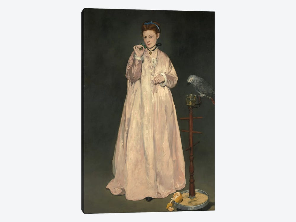 Young Lady In 1866 by Edouard Manet 1-piece Canvas Artwork