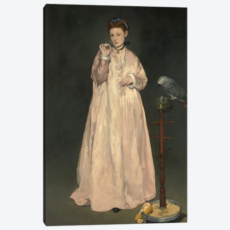 Young Lady In 1866 Canvas Print #BMN7034} by Edouard Manet Canvas Art
