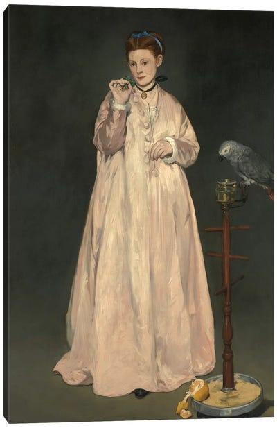 Young Lady In 1866 Canvas Art Print