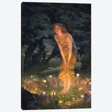 Midsummer's Eve Canvas Print #BMN7035} by Edward Robert Hughes Canvas Artwork