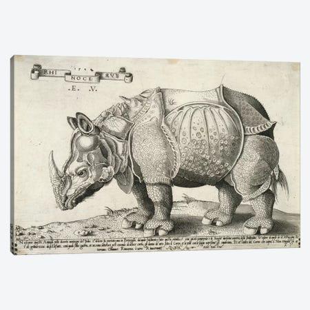 Rhinoceros, 1548 Canvas Print #BMN7037} by Enea Vico Canvas Art
