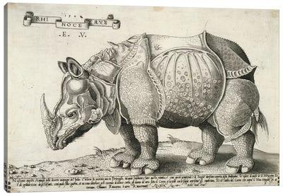 Rhinoceros, 1548 Canvas Art Print