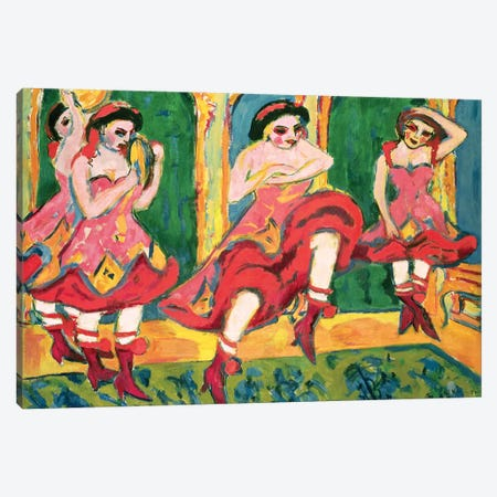 Czardas Dancers, 1908-20 Canvas Print #BMN7039} by Ernst Ludwig Kirchner Canvas Print