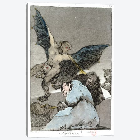 Snitches? (Color Illustration From Los Caprichos), 1799 Canvas Print #BMN7042} by Francisco Goya Canvas Wall Art