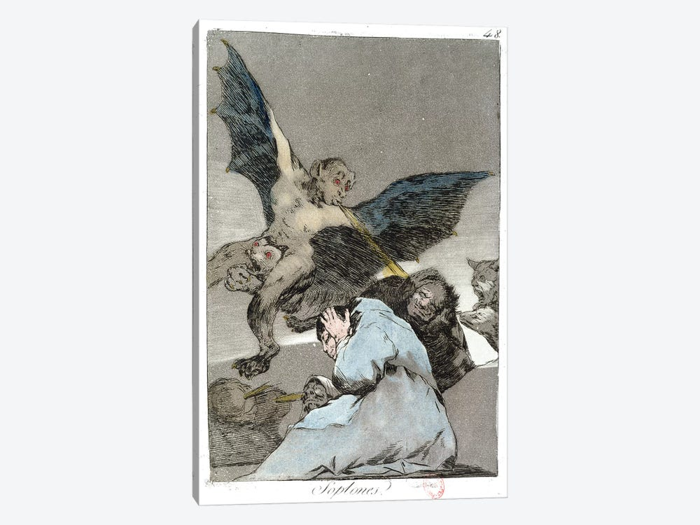 Snitches? (Color Illustration From Los Caprichos), 1799 by Francisco Goya 1-piece Canvas Print
