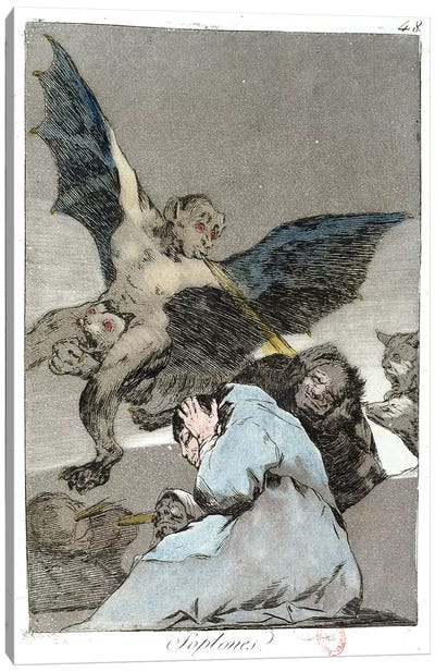 Snitches? (Color Illustration From Los Caprichos), 1799 Canvas Art Print