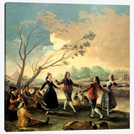 Dance On The Banks Of The River Manzanares, 1777 Canvas Print #BMN7043} by Francisco Goya Canvas Art