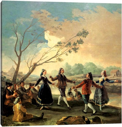 Dance On The Banks Of The River Manzanares, 1777 Canvas Art Print