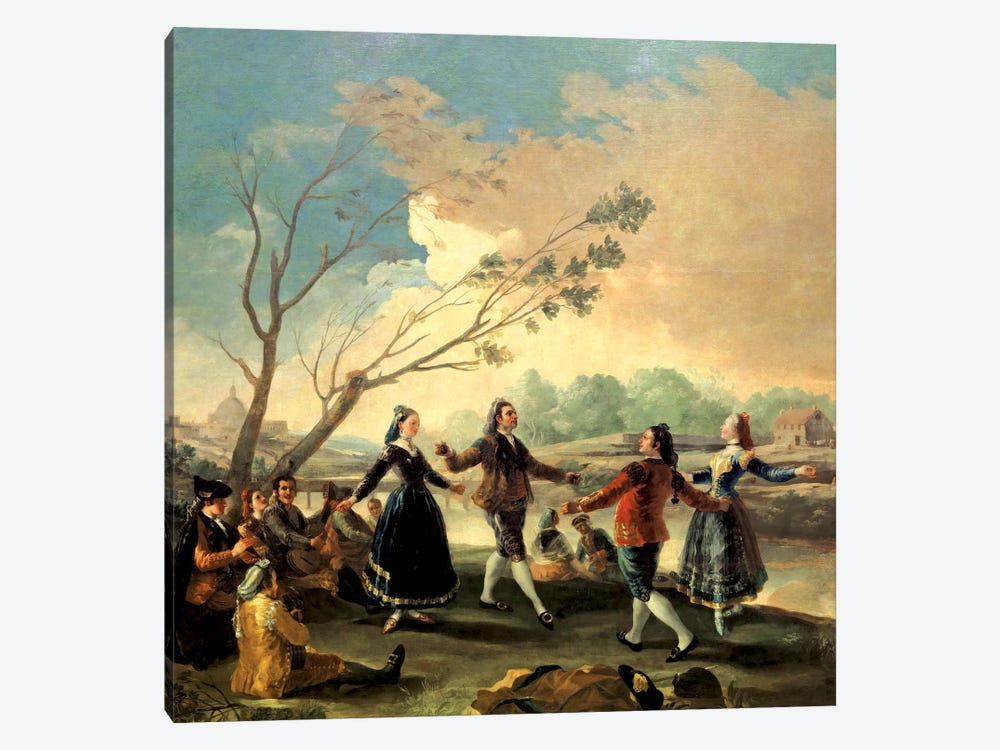 Dance On The Banks Of The River Manzanares, 1777 by Francisco Goya 1-piece Canvas Artwork