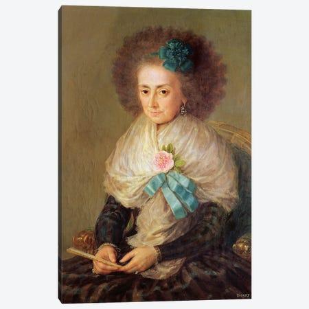 Dona Maria Antonia Gonzaga, Marquesa de Villafranca Canvas Print #BMN7044} by Francisco Goya Art Print