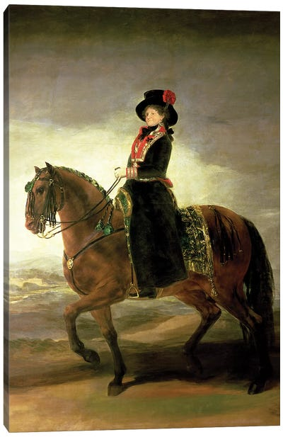 Equestrian Portrait Of Queen Maria Luisa (Wife Of King Charles IV Of Spain), 1799 Canvas Art Print