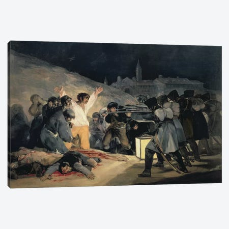 Execution Of The Defenders Of Madrid (3rd May, 1808), 1814 Canvas Print #BMN7046} by Francisco Goya Canvas Print