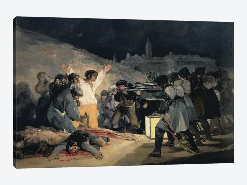 Execution Of The Defenders Of Madrid (3rd May, 1808), 1814 by Francisco Goya 1-piece Canvas Art Print