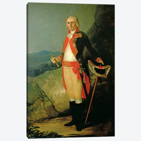 General Jose de Urrutia, 1798 Canvas Print #BMN7047} by Francisco Goya Canvas Art Print