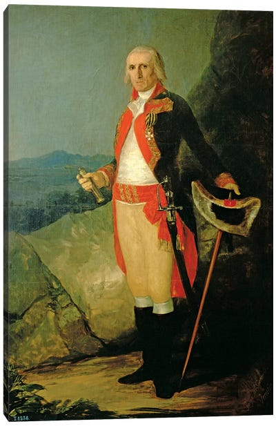 General Jose de Urrutia, 1798 Canvas Art Print