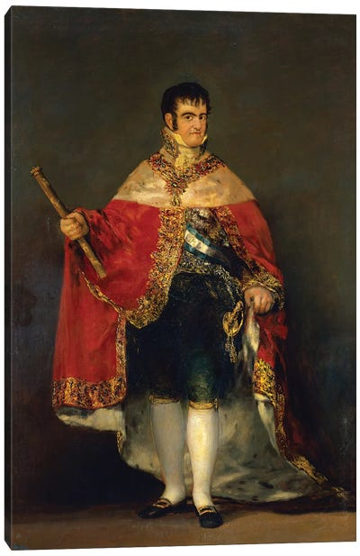 Portrait Of Ferdinand VII, 1814 Canvas Art Print