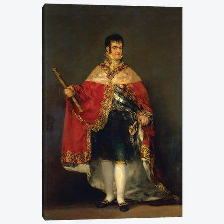 Portrait Of Ferdinand VII, 1814 3-Piece Canvas #BMN7048} by Francisco Goya Canvas Artwork