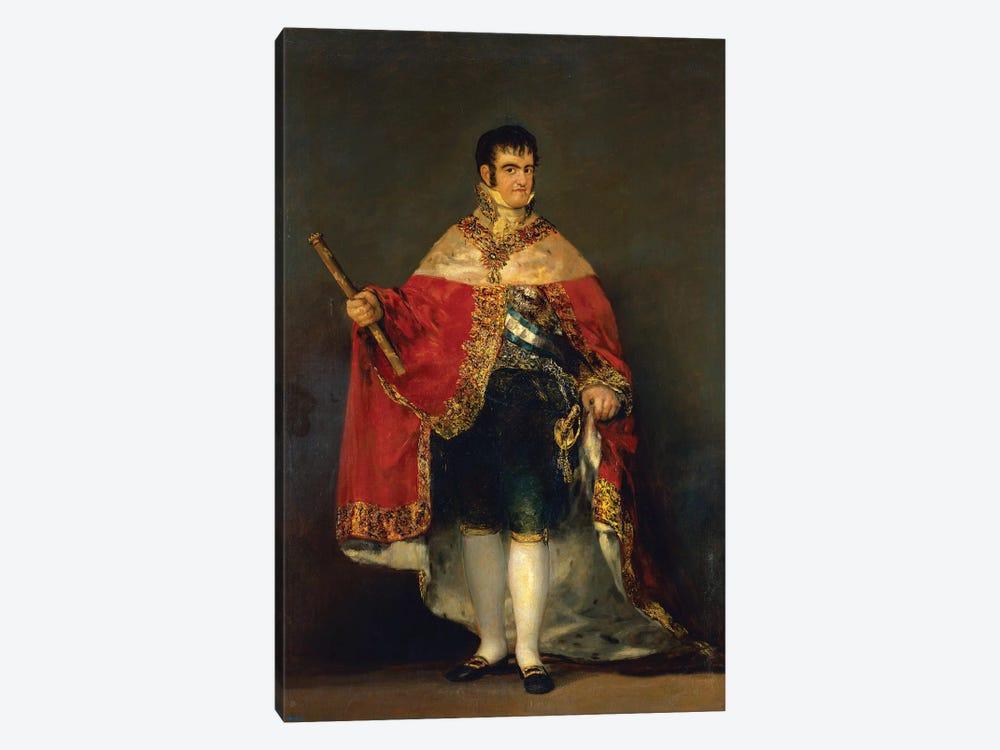 Portrait Of Ferdinand VII, 1814 by Francisco Goya 1-piece Canvas Art Print