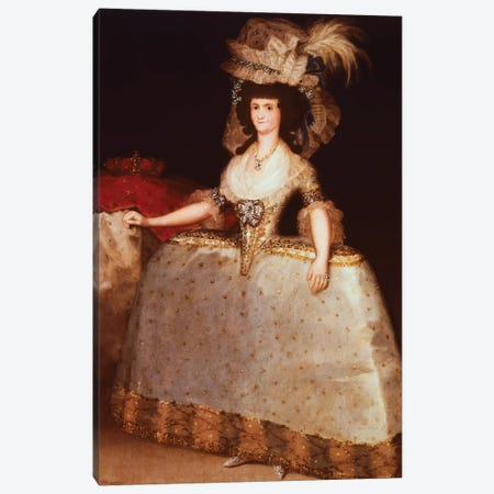Portrait Of Maria Luisa Of Parma (Queen Consort Of Charles IV, King Of Spain), 1789 Canvas Print #BMN7049} by Francisco Goya Canvas Art