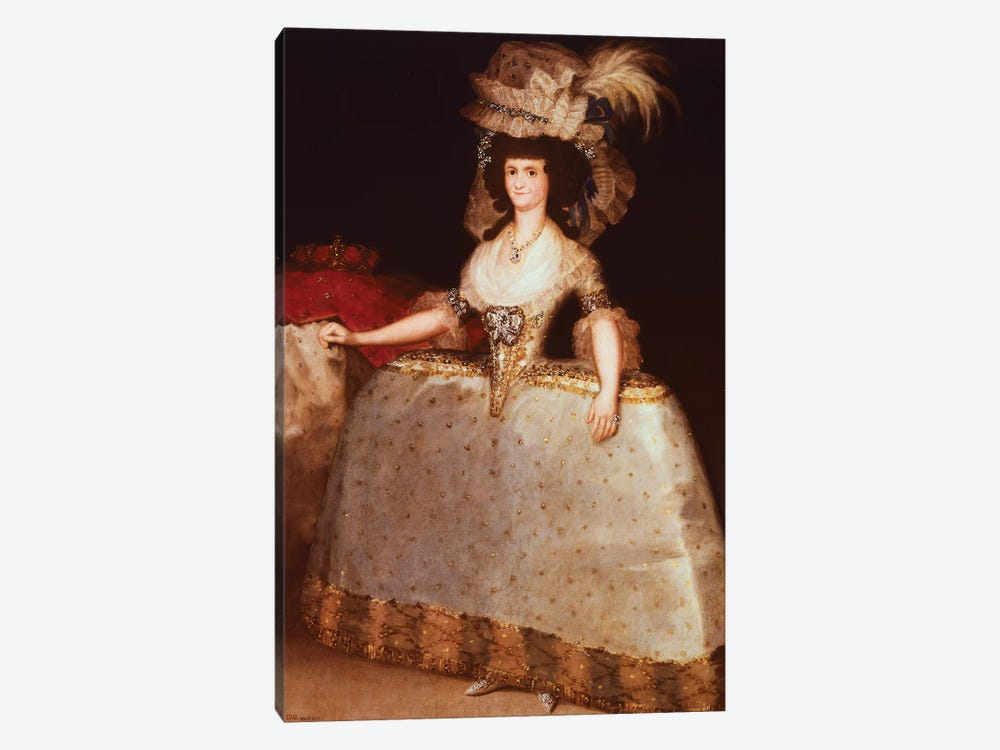 Portrait Of Maria Luisa Of Parma (Queen Consort Of Charles IV, King Of Spain), 1789 by Francisco Goya 1-piece Canvas Art