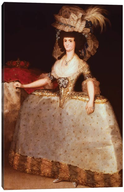 Portrait Of Maria Luisa Of Parma (Queen Consort Of Charles IV, King Of Spain), 1789 Canvas Art Print