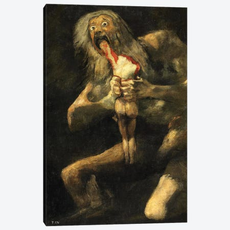 Saturn Devouring One Of His Sons, 1821-23 Canvas Print #BMN7050} by Francisco Goya Canvas Art Print