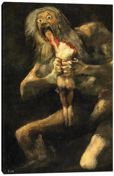 Saturn Devouring One Of His Sons, 1821-23 Canvas Art Print