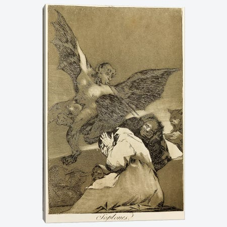 Snitches? (Illustration From Los Caprichos), 1799 Canvas Print #BMN7051} by Francisco Goya Canvas Art Print