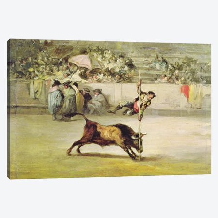The Agility And Audacity Of Juanito Apinani At The Madrid Arena Canvas Print #BMN7052} by Francisco Goya Canvas Art Print