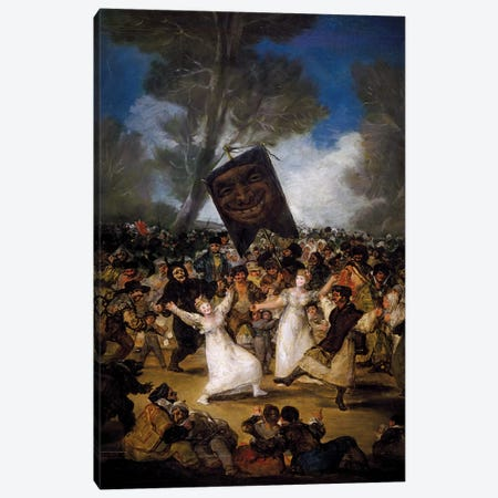 The Burial Of The Sardine (Corpus Christi Festival On Ash Wednesday), c.1812-19 Canvas Print #BMN7053} by Francisco Goya Canvas Print