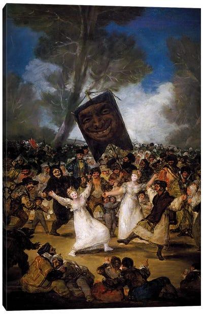 The Burial Of The Sardine (Corpus Christi Festival On Ash Wednesday), c.1812-19 Canvas Art Print