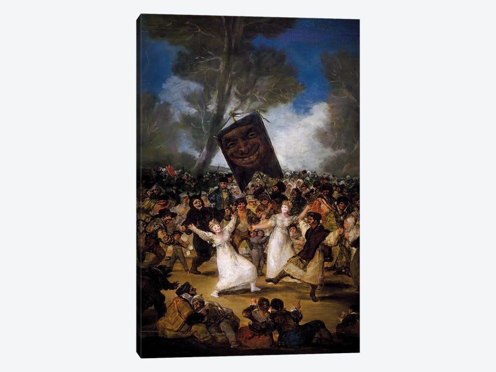 The Burial Of The Sardine (Corpus Christi Festival On Ash Wednesday), c.1812-19 by Francisco Goya 1-piece Canvas Print