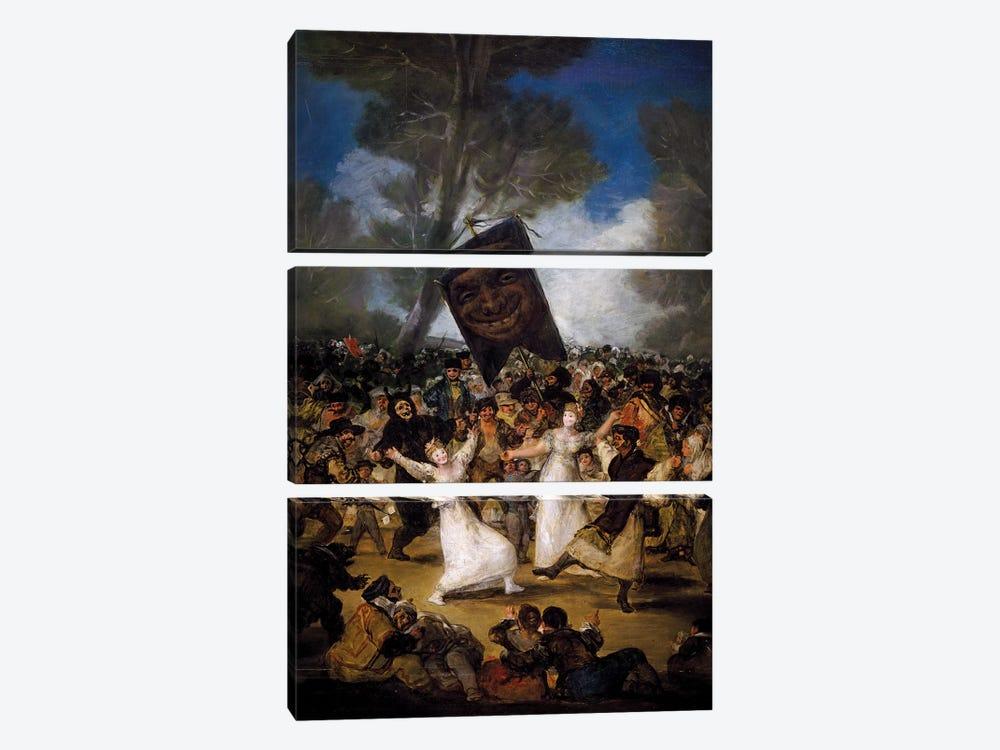 The Burial Of The Sardine (Corpus Christi Festival On Ash Wednesday), c.1812-19 by Francisco Goya 3-piece Art Print